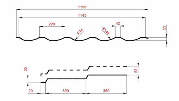 параметри металочерепиці модерн